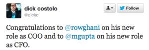 Twitter高层重组  任命新COO和CFO