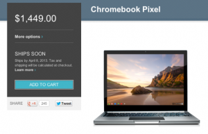 LTE版Chromebook Pixel 4月8日出货 售1449美元
