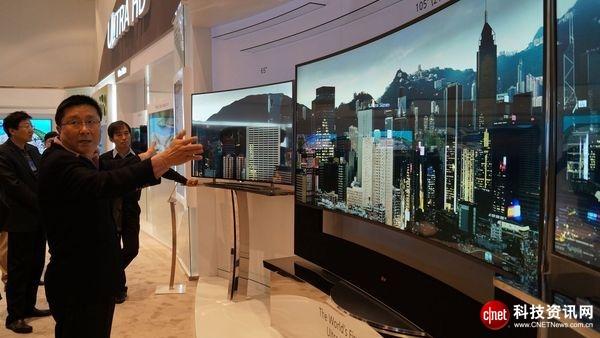 LG Display 105英寸曲面屏超大电视