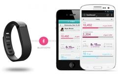 Fitbit Flex:用蓝牙4.0实时同步数据