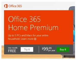 微软Office 365家庭高级版用户达到100万
