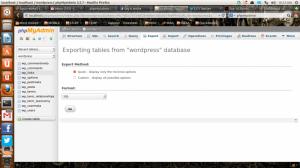 使用phpMyAdmin如何导入和导出数据