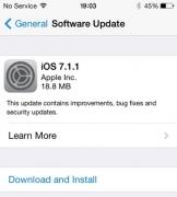苹果发布iOS 7.1.1更新 改进Touch ID指纹识别功能