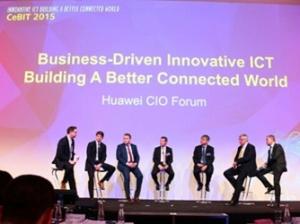 华为于CeBIT 2015举办CIO论坛:业务驱动创新ICT 共建更美好全联接世界