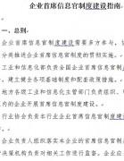 《企业首席信息官建设制度指南》发布