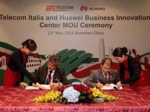 华为与意大利电信签署共同建立商业创新中心合作协议