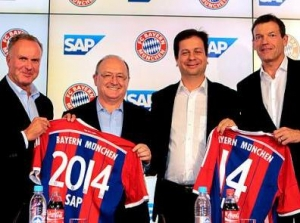 拜仁慕尼黑队签约SAP联合开发分析软件