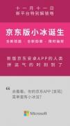 双11的另类发布 微软小冰进驻京东电商平台