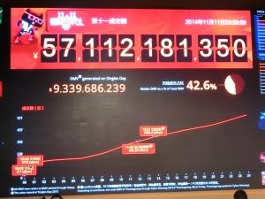 天猫双11疯狂刷夜票房:571亿元 无线端243亿元
