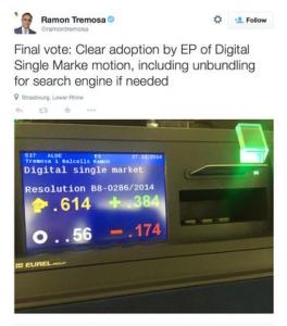 欧洲议会投票通过拆分谷歌搜索业务议案