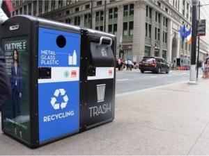 Wi-Fi热点智能垃圾桶现身纽约街头