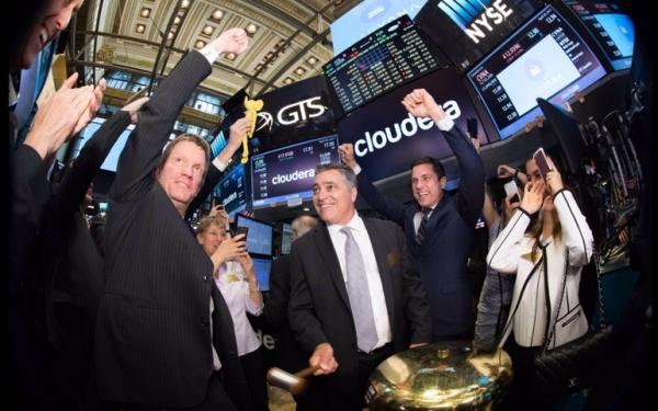 Cloudera在华尔街上市首日股价涨幅达20%