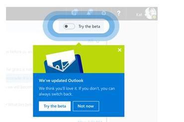 微软推出新的Outlook.com测试版——开始测试新功能