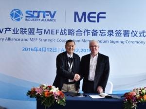SDN/NFV产业联盟与MEF标准组织签署战略合作协议