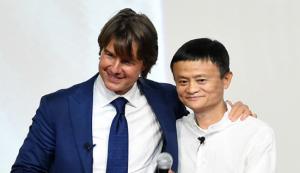 马云站台《碟5》首映礼 与汤姆・克鲁斯跨界对话