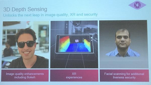 """人脸识别因为有3D传感器技术才大放异彩 高通说,其实智能手机正热的""""黑科技""""还有很多"""