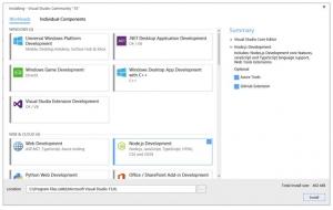 微软将推出新的Visual Studio快速、定制安装体验