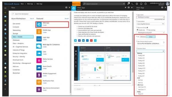微软的Azure App Service开发人员平台现在可以在Linux上使用了