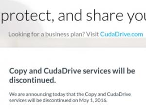 梭子鱼将于5月1日结束Copy云存储服务