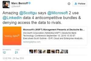 """微软和Salesforce:旧爱为何再一次变""""仇敌""""?"""