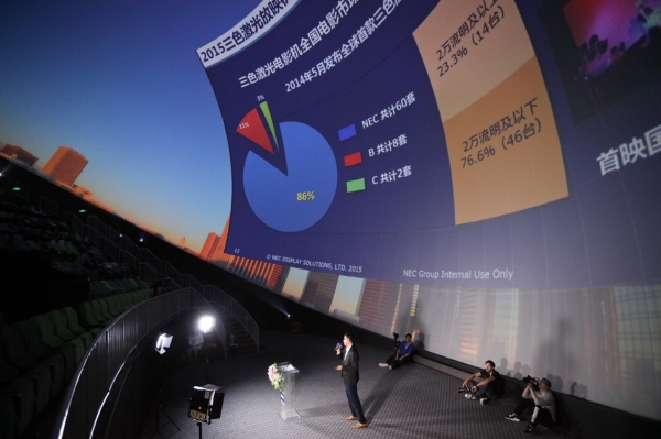 激光投影逞威 NEC打造高端4K激光球幕