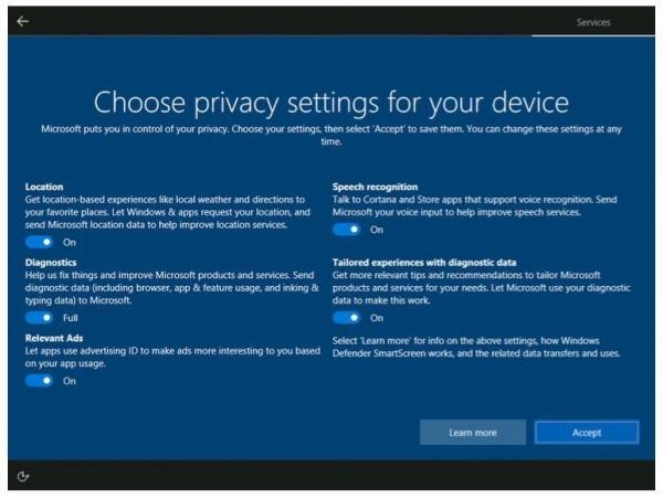 微软修改Windows 10隐私设置:更加通俗易懂