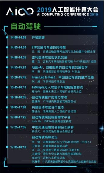 吉利、四维、图新、广汽等齐聚AICC2019自动驾驶论坛