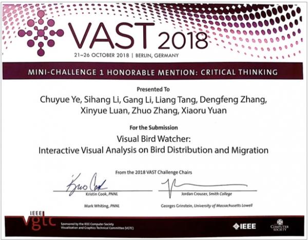 360企业安全与北大可视化组队再获VAST国际最高奖项