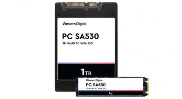西部数据推出装备96 层 3D NAND 颗粒的PC SA530 SATA SSD