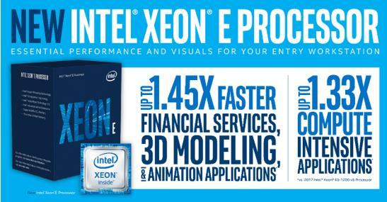 英特尔推出为入门级工作站打造的全新至强E处理器