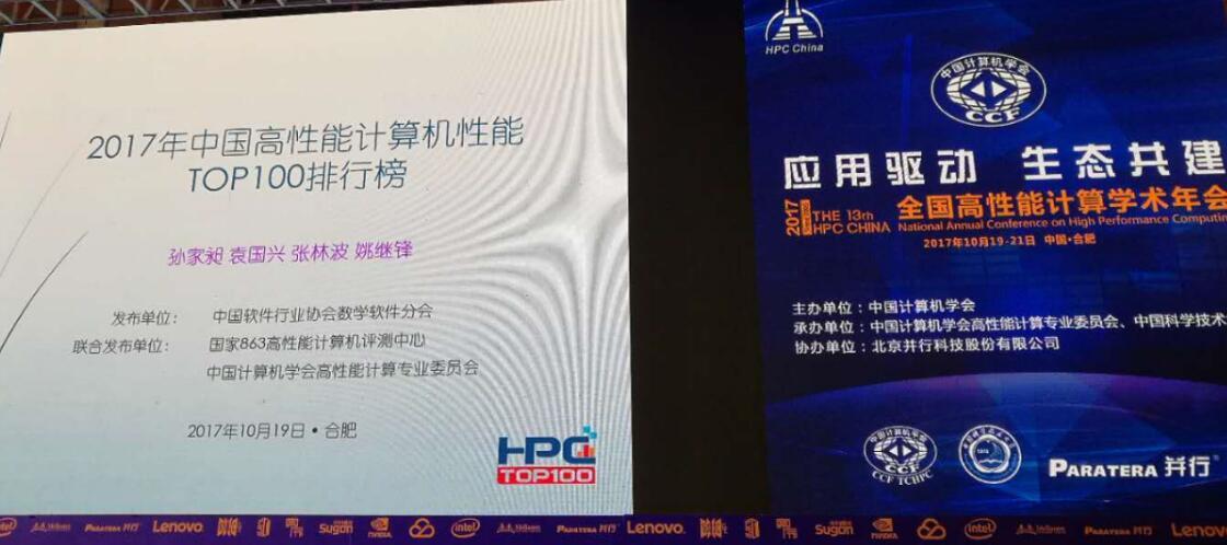 HPC China 2017 TOP 100 排行榜公布,浪潮46套排名第一!