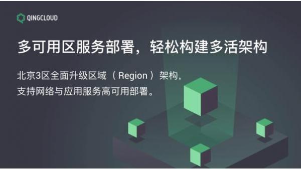 青云QingCloud支持多可用区部署 轻松构建多活架构