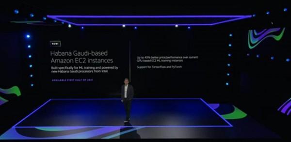 AWS CEO Andy Jassy announces Intel Habana Gaudi Instances