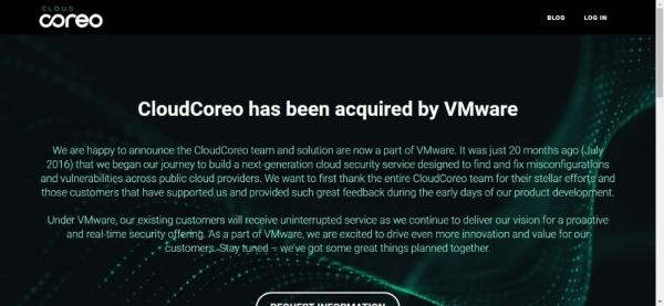 VMware收购CloudCoreo以提高云应用安全性
