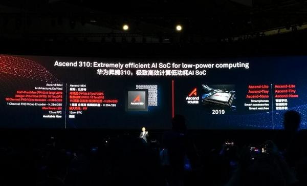 华为打造全栈全场景AI解决方案战略,同时发布两颗云AI芯片