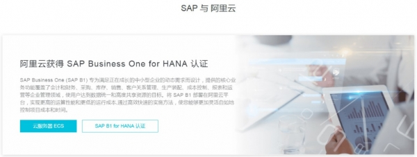 SAP Business One on HANA登陆阿里云