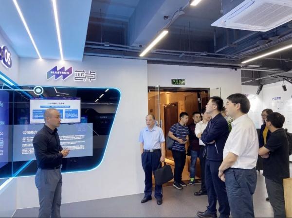 中国工业互联网研究院副院长冯旭一行调研蓝卓工业互联网