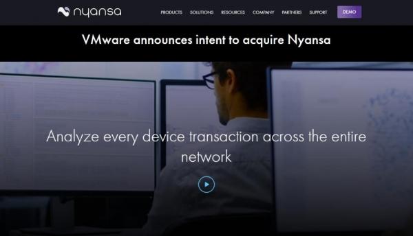 VMware收购AI网络分析厂商Nyansa
