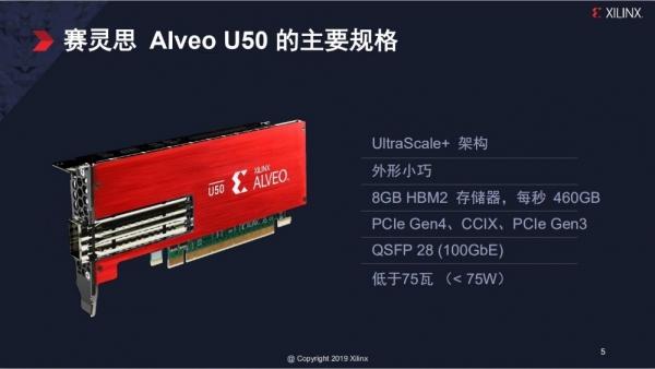 轻量级与高性能的完美融合·Xilinx扩展 Alveo 产品组合推出首款轻量级第四代 PCIe加速卡