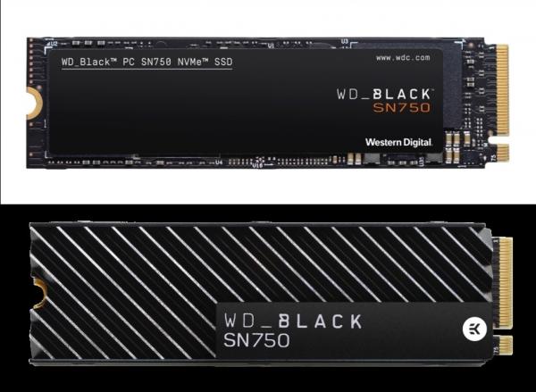 为游戏而生:西部数据推出WD BLACK SN750 NVME SSD