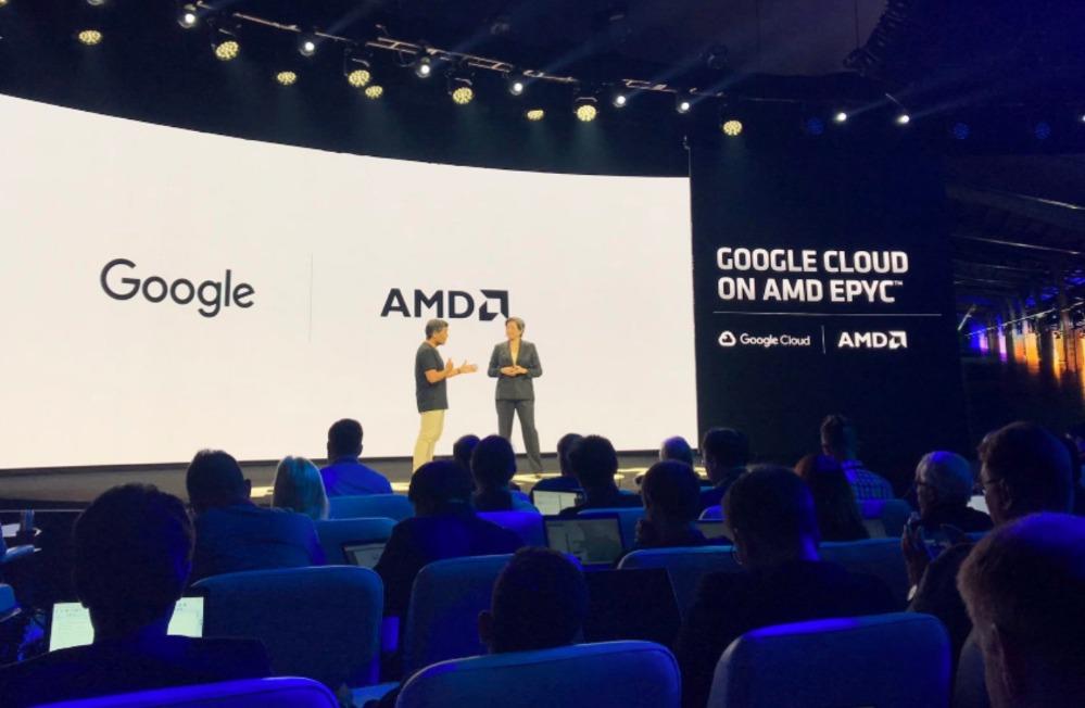 AMD�l布下一代EPYC���中心芯片 拿下谷歌推特等大客��