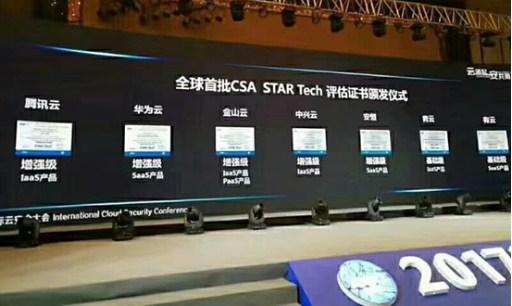 金山云全球首家通过STAR Tech IaaS/PaaS安全增强双认证