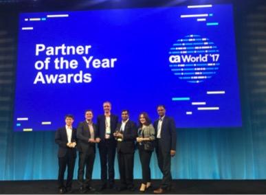 Infosys, Kinetic IT, MFEC 和Uclick赢得CA Technologies 2017亚太及日本地区合作伙伴大奖