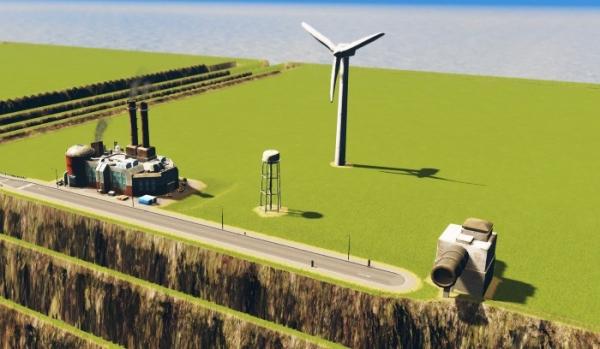 《城市:天际线》中的图灵机:用水电管道做一个四位加法器