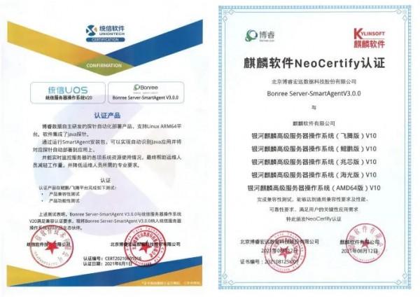 APM领域国产化先锋!博睿数据与麒麟、统信、中科方德完成兼容性认证