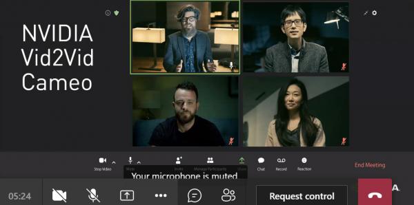 重塑视频会议 NVIDIA Vid2Vid Cameo打造逼真的AI人脸说话动态