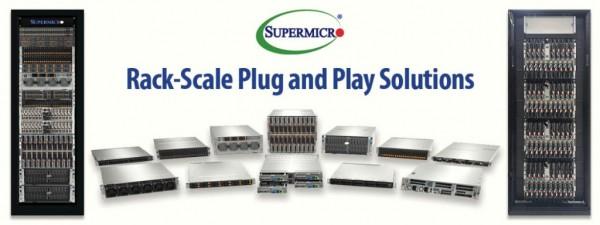Supermicro推出机柜级即插即用解决方案,为云端、AI 和5G/边缘应用的大型数据中心提供预定义且预先测试的配置